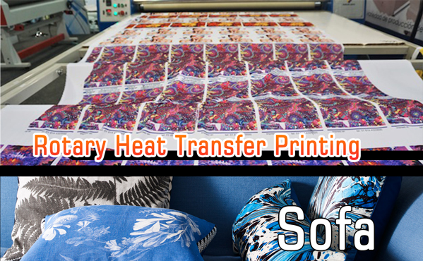 roll to roll heat press machine for interior textile