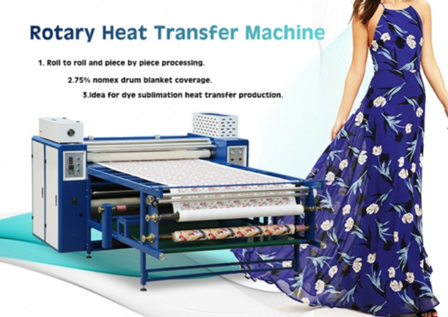 roller drum heat transfer machine