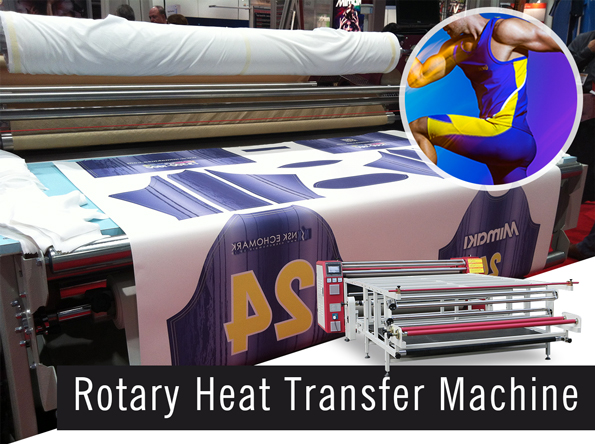 rotary heat press machine