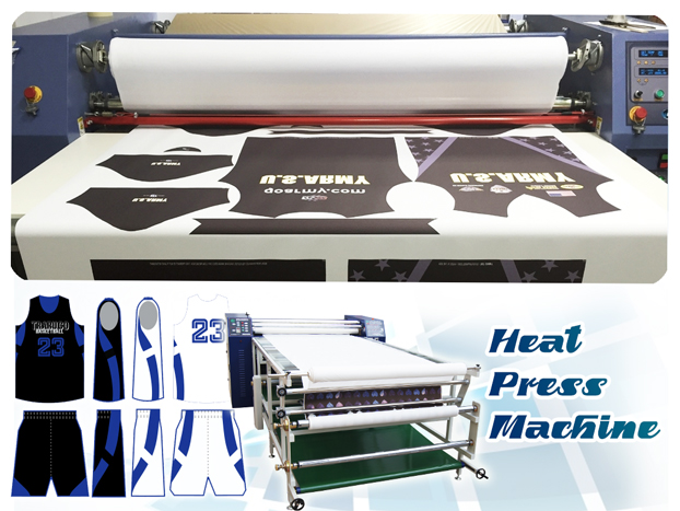 rotary drum heat press machine